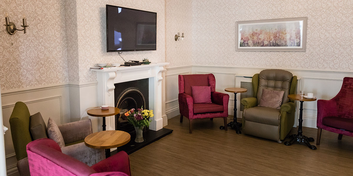 carehome living room at westlands care home